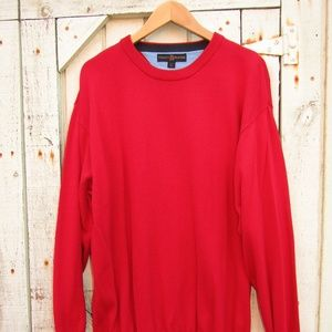 TOMMY HILFIGER sweater red 100% cotton size L
